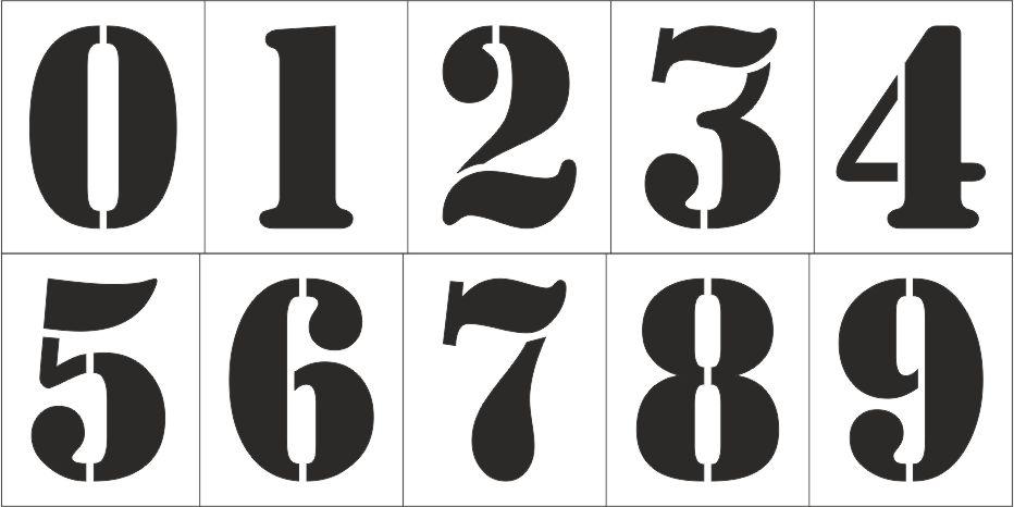 Трафарет цифр шаблоны 79