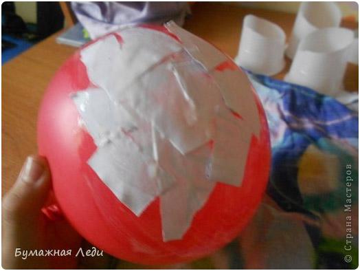 Как сделать надувной шар из бумаги видео